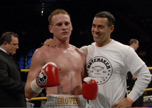 George Groves with Trainer Adam Booth